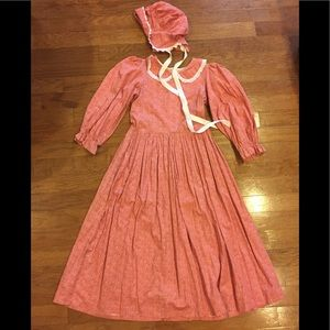 Other - Girls sz 12/14 pink calico pioneer costume dress